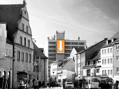 Bayerns größtes Videoboard ist in Schweinfurt!
