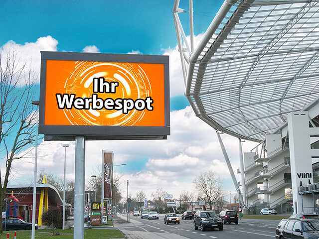 Videoboard Leverkusen Bismarckstrasse
